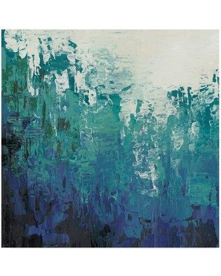 """East Urban Home 'Sea Caverns I' Acrylic Painting Print on Wrapped Canvas W000120858 Size: 35"""" H x 35"""" W x 2"""" D"""