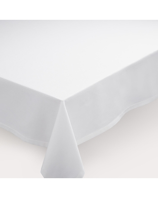 """White Buffet Tablecloth - Cotton - 60"""" x 90"""" by World Market"""