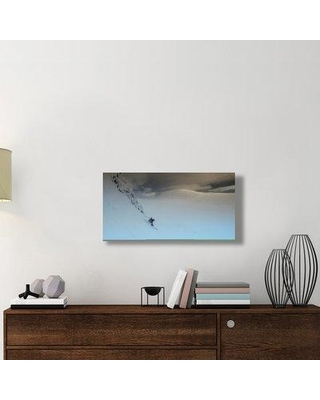 """East Urban Home 'Moon Landscape' Photographic Print On Wrapped Canvas ERNH2252 Size: 18"""" H x 36"""" W x 1.5"""" D"""