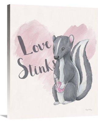 """East Urban Home 'My Furry Valentine II' Print ETUM6994 Size: 35"""" H x 28"""" W Matte Color: No Matte Format: Wrapped Canvas"""