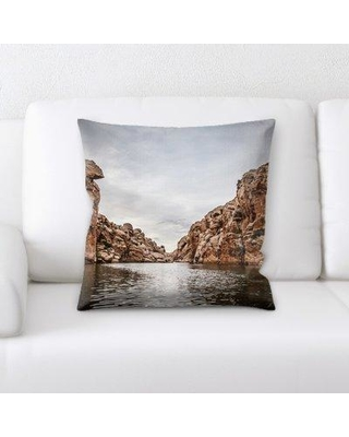 Latitude Run Kelloch Mountain and Cliffs Throw Pillow BI135254
