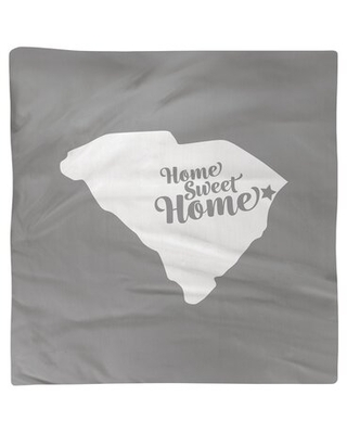 "Home Sweet Myrtle Beach Napkin East Urban Home Color: Gray, Size: 10"" W x 10"" D, Material: Polyester"