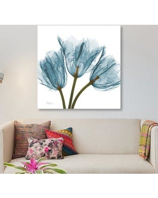 """East Urban Home 'Tulips' Graphic Art Print on Canvas UBAH9944 Size: 18"""" H x 18"""" W x 1.5"""" D"""