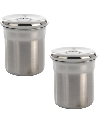 BergHOFF Essentials Stainless Steel Salt and Pepper Shakers Set, Silver