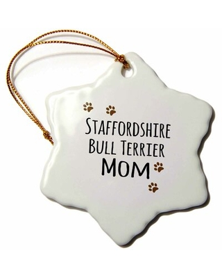 Staffordshire Bull Terrier Dog Mom Snowflake Holiday Shaped Ornament The Holiday Aisle®