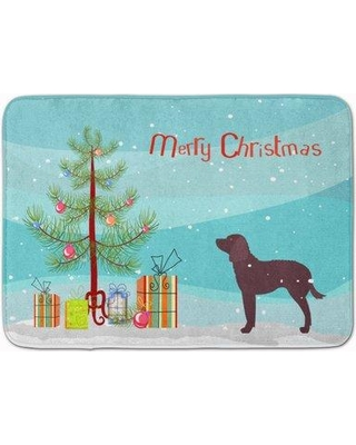 Here S A Great Deal On The Holiday Aisle American Water Spaniel Christmas Tree Memory Foam Bath Rug Polyester In Blue Size 27 H X 19 W Wayfair Thla5211 40014707