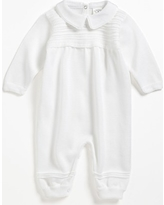 Infant Boy's Little Things Mean A Lot Knit Romper, Size 3M - White