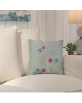 "Beachcrest Home Decorative Holiday Geometric Print Throw Pillow SEHO5913 Color: Aqua, Size: 26"" H x 26"" W"