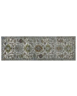 Gertmenian Oriental Rugs IV Modern Persian Area Carpets, 2.5x8 Runner, Ivory Abstract Medallion