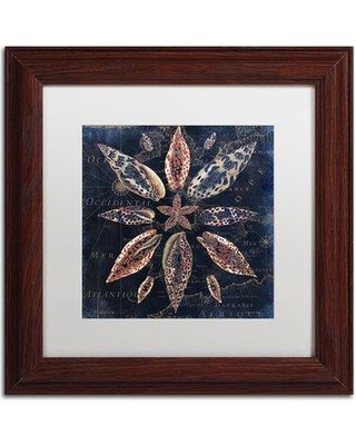 """Trademark Art 'Maritime Blues VII' by Color Bakery Framed Graphic Art ALI4779-W1 Size: 11"""" H x 11"""" W x 0.5"""" D Matte Color: White"""