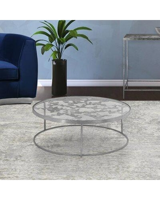 Deals For Everly Quinn Whitmer Frame Coffee Table Glass Metal In Silver Size 31 L X 31 W X 16 H Wayfair 26b45b9b28c24f57ad2ad67bf5272987
