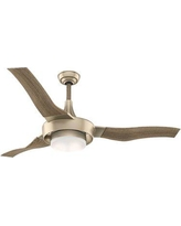 """Casablanca Fan 64"""" Perseus 3 Blade LED Ceiling Fan with Remote Light Kit Included 59167 / 59168 Finish: Metallic SunSand with Drift Oak Blades"""