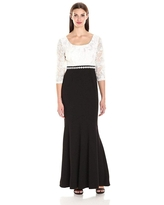 Alex Evenings - 1121571 Lace Embellished Black and White Dress