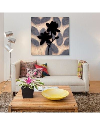 """East Urban Home 'Blossom Silhouette II' Painting Print on Canvas ESUR7996 Size: 26"""" H x 26"""" W x 1.5"""" D"""
