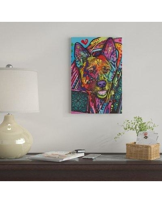 """East Urban Home 'Jax' by Dean Russo Graphic Art Print on Wrapped Canvas EUME4268 Size: 40"""" H x 26"""" W x 1.5"""" D"""