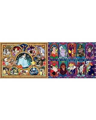Ceaco Disney Classics Classic Collage Jigsaw Puzzle, 1500 Pieces & Disney Villains 2 Jigsaw Puzzle, 1500 Pieces