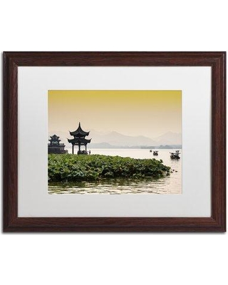 """Trademark Art """"West Lake"""" by Philippe Hugonnard Framed Photographic Print PH0446-W1 Matte Color: White Size: 16"""" H x 20"""" W x 0.5"""" D"""