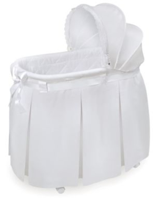 Badger Basket Lovely Wishes Bassinet in White