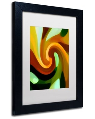 "'Wind In Tree Vertical 1' Wood Framed Graphic Art on Canvas Latitude Run Size: 14"" H x 11"" W x 0.5"" D"