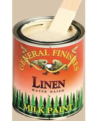 General Finishes 1 gal. Linen Interior/Exterior Milk Paint, Browns/Tans