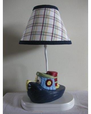 """Silly Bear Lighting Boat Transportation 13.5"""" Table Lamp TL59-621 Shade: Color Crayon Cutie"""