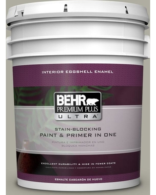 BEHR ULTRA 5 gal. #PPU25-06 Wells Gray Eggshell Enamel Interior Paint and Primer in One