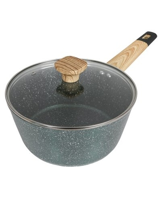 Art of Cooking 3 qt. Non-Stick Anodized Aluminum Saucepan with Lid