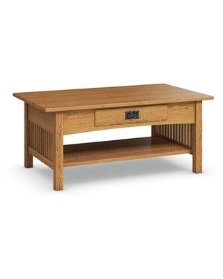 Amazing Deal On Loon Peak Downing Solid Wood Coffee Table W Storage Wood Solid Wood In Golden Oak Size 19 H X 44 W X 26 D Wayfair Mh2600 04