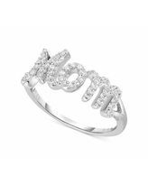 """Diamond """"Mom"""" Ring (1/4 ct. t.w.) in Sterling Silver - Sterling Silver"""