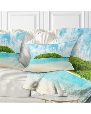 Amazing Deal On East Urban Home Photography Tropical Island Panorama Lumbar Pillow Polyester Polyfill Polyester Polyester Blend In Blue Size 12x20 Wayfair
