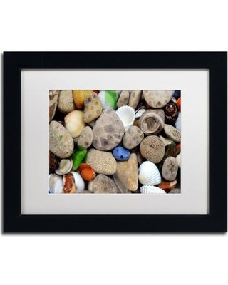"""Trademark Fine Art 'PetoskeyStones lll' by Michelle Calkins Framed Photographic Print MC0204-B1 Size: 11"""" H x 14"""" W Matte Color: White"""