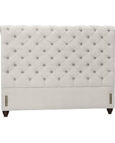 Chesterfield Upholstered Headboard, Queen, Performance Heathered Tweed Ivory