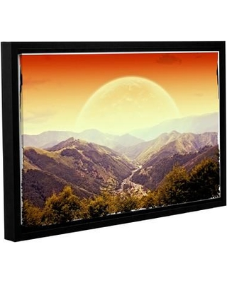 """Ivy Bronx Highland Sunset Framed Photographic Print on Wrapped Canvas IVYB7497 Size: 24"""" H x 36"""" W"""