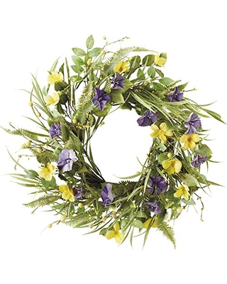 Dii Dii Camz34862 Decorative Leaves Flowers 20 Wreath For Front Door Or Indoor Wall Decor To Celebrate Easter Spring Summer Season 22 Wild