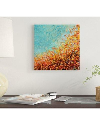 "East Urban Home 'RM 075' By Iris Scott Abstracts Graphic Art Print on Canvas EUME1758 Size: 12"" H x 12"" W x 0.75"" D"