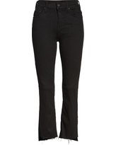Women's Mother The Insider Crop Jeans, Size 32 - Black