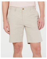 """Club Room Men's Regular-Fit 9"""" 4-Way Stretch Shorts, Created for Macy's - Stone Wall"""