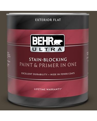 BEHR ULTRA 1 qt. #T12-13 Tribal Drum Flat Exterior Paint and Primer in One