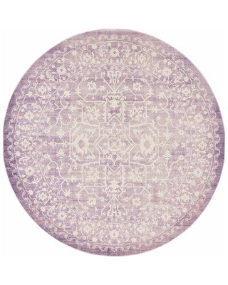 RugPal Classique Geometric Lilac Area Rug 185 Rug Size: Round 8'