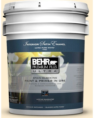 Here S A Great Price On Behr Ultra 5 Gal 300a 1 Opal Cream Extra Durable Satin Enamel Interior Paint And Primer In One