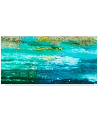 """East Urban Home 'Tantra II' Graphic Art Print on Wrapped Canvas W000144779 Size: 12"""" H x 24"""" W x 2"""" D"""