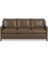 Addison Sofa, Down Blend Cushion Italian Distressed Leather Solid Toffee