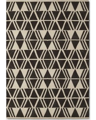 Microplush Geo Knitted Area Rug 7'x10' - Project 62, Grey/Ivory