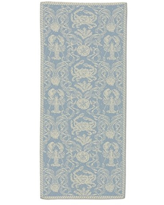 "Heritage Lace CD-1436SB Sea Blue Crab Damask 14""x36"" Table Runner"