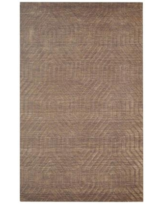 TECTC857900120508 Technique TC8579-5' x 8' Hand-Loomed 100% Wool Rug in Brown Rectangle