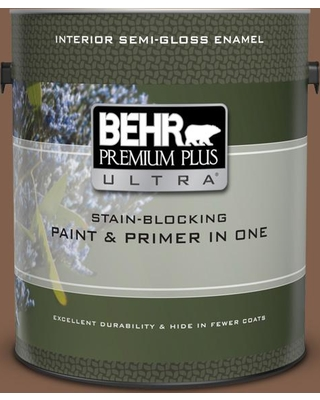 BEHR Premium Plus Ultra 1 gal. Home Decorators Collection #hdc-SP14-6 Tilled Earth Semi-Gloss Enamel Interior Paint & Primer