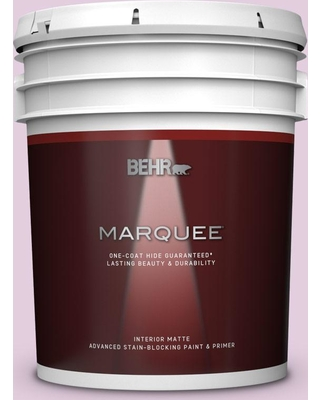 BEHR MARQUEE 5 gal. #680C-3 Rose Glow Matte Interior Paint and Primer in One
