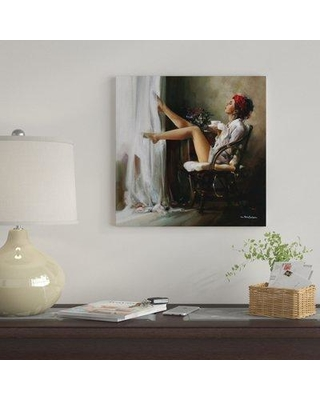 """East Urban Home 'Coffee Break' By Ron Di Scenza Graphic Art Print on Canvas EUME2311 Size: 12"""" H x 12"""" W x 0.75"""" D"""