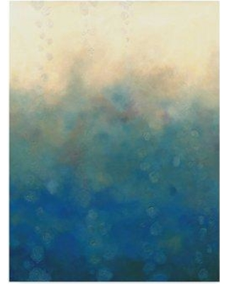 """Winston Porter 'Sea and Sky I' Graphic Art Print on Wrapped Canvas WNPO4488 Size: 32"""" H x 24"""" W x 2"""" D"""