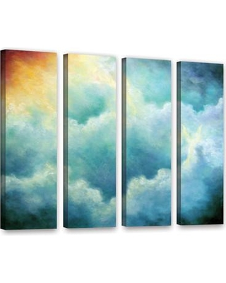 """ArtWall Evidence Of Angels by Marina Petro 4 Piece Painting Print on Gallery Wrapped Canvas Set 0pet017d2432w / 0pet017d3648w Size: 36"""" H x 48"""" W x 2"""" D"""